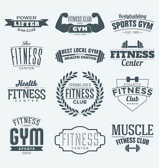 Fitness logos collection