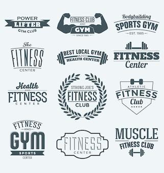 Коллекция Фитнес логотипы