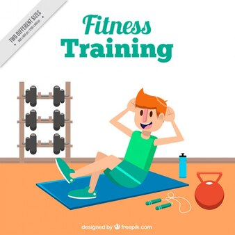 Fitness training for him