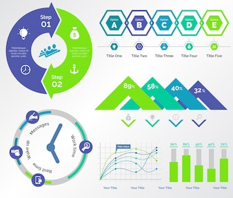 Five Banking Charts Templates Set
