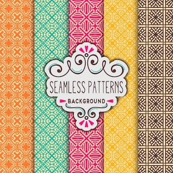 Five colorful patterns