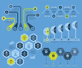 Five Strategy Diagrams Templates Set