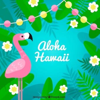 Flamingo aloha background