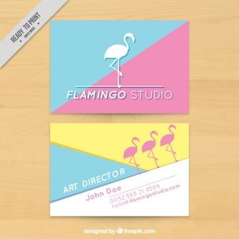 Flamingo art studio, business card