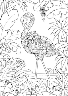 Flamingo background design