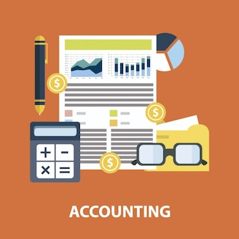 Flat accounting infographic