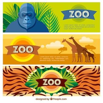 Flat animal banners