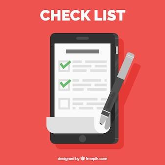 Flat background of list elements