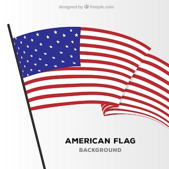 Flat background of united states flag