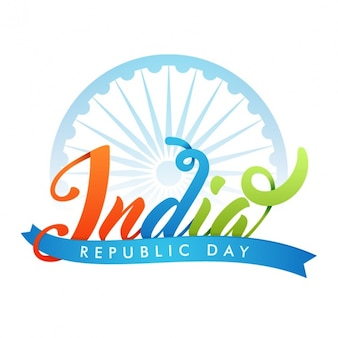 Flat background with blue details for republic day of india