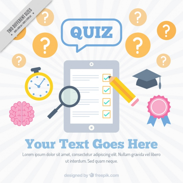 Flat background with questionnaire