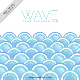 Flat background with round waves