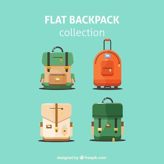 Flat backpack collection