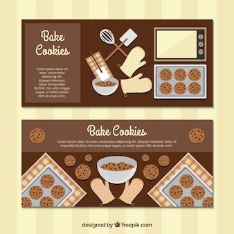 Flat bake cookies banners