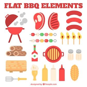 Flat bbq equipment