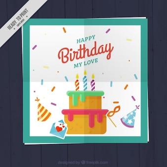 Flat birthday card