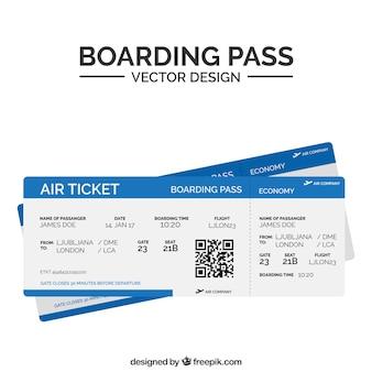ブルーゾーンを持つフラット搭乗券