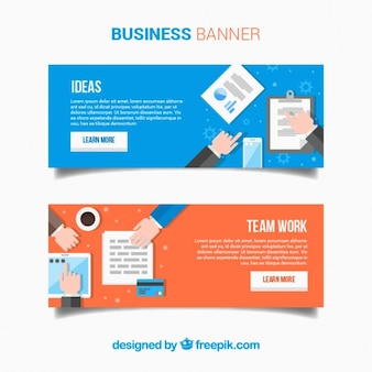 Flat business banners
