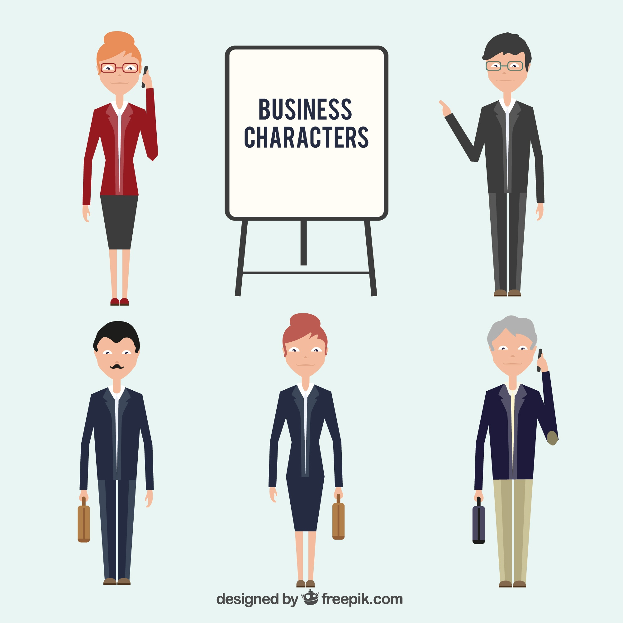 Flat Business Characters Collection