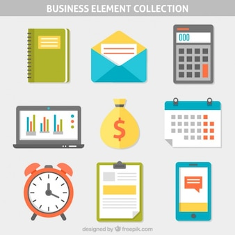 Flat business element collection