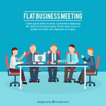 Flat business meeting illustration