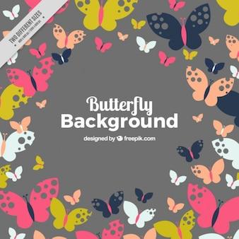 Flat Butterflies background
