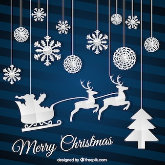 Flat Christmas Card