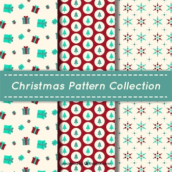 Flat christmas patterns collection