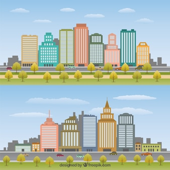 Flat Cityscape Pack