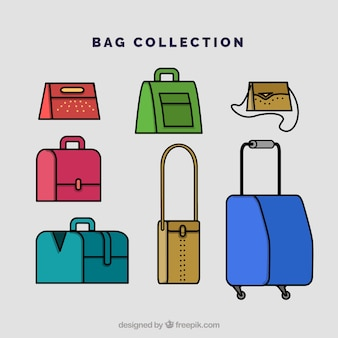 Flat collection of bags