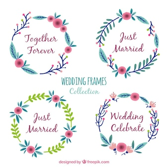 Flat collection of round wedding frames