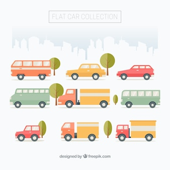 Flat collection of urban vehicles