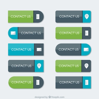 Flat contact buttons pack