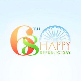 Flat decorative background for republic day of india