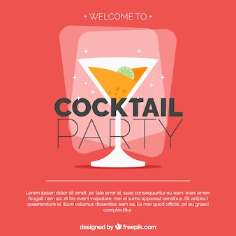 Flat design cocktail party background