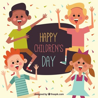 Flat design for childrens day