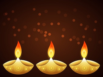Flat design for diwali festival with candles