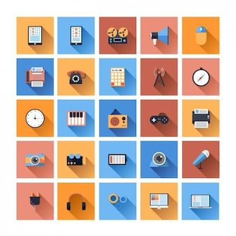 Flat device icon collection