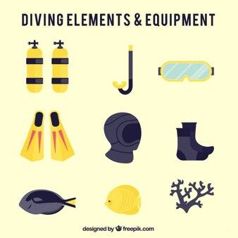 Flat diving equipment