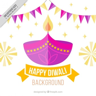 Flat diwali background