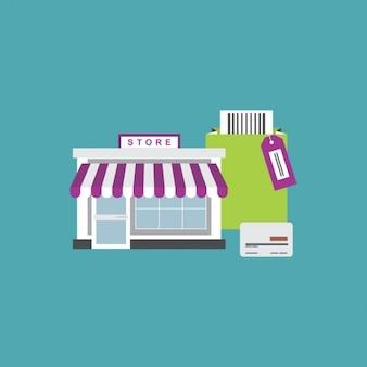 Flat e commerce elements