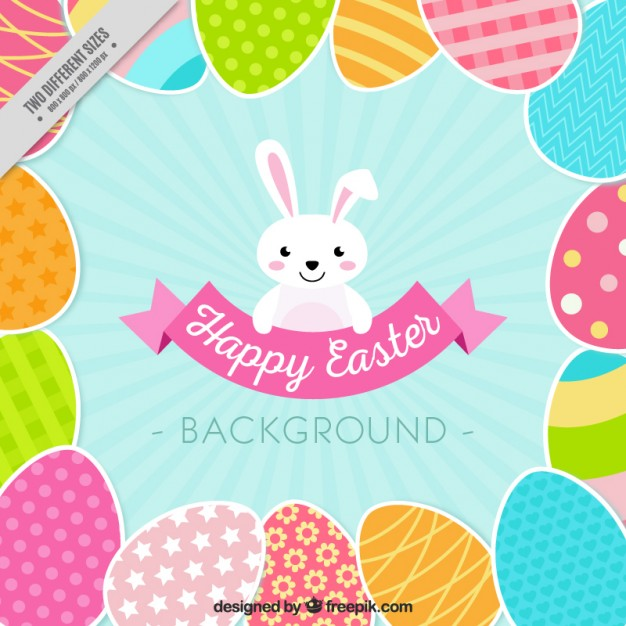 Flat Easter Background