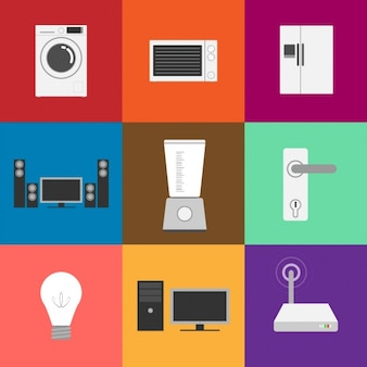Flat Electrical appliance Icon Collection