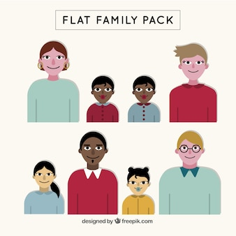 Flat family pack