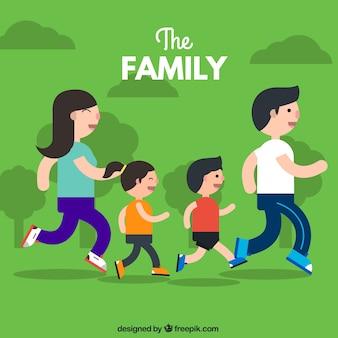 Flat family running
