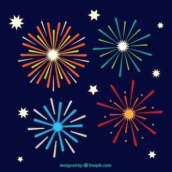 Flat fireworks pack