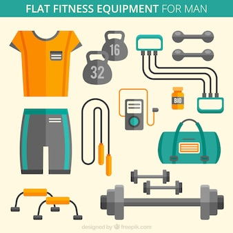 Flat fitness equipment for man
