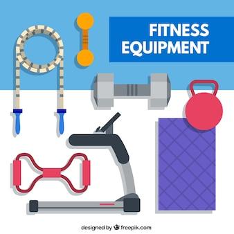Flat fitness equipment
