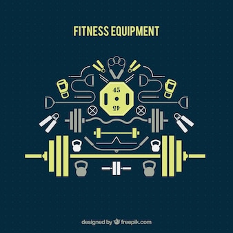 Flat fitness equipment