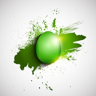 Flat Green Easter Egg Background